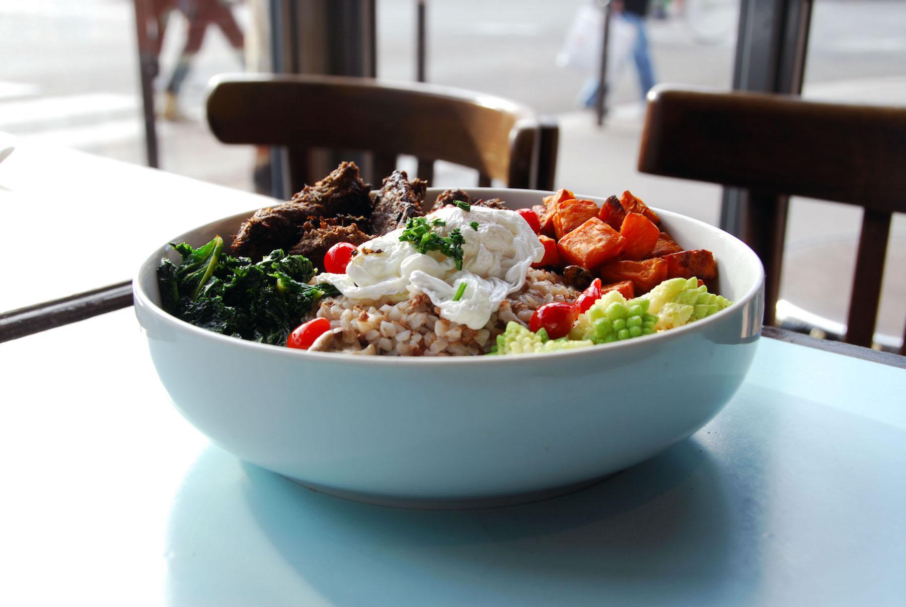 Salade bibimbap usine de Charonne
